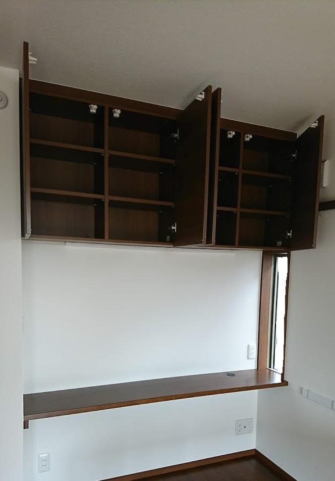 見せない収納の例4 吊り戸棚の収納2