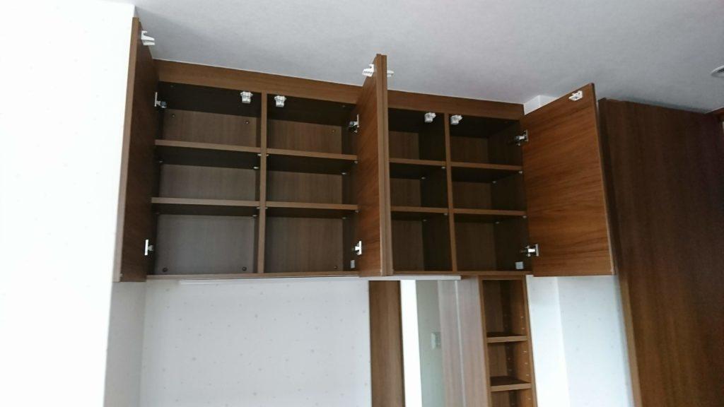 見せない収納の例4 吊り戸棚の収納1