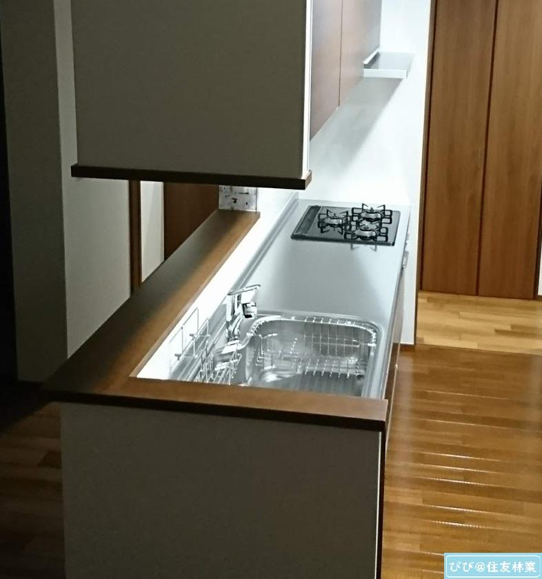 見せる収納 キッチンカウンター