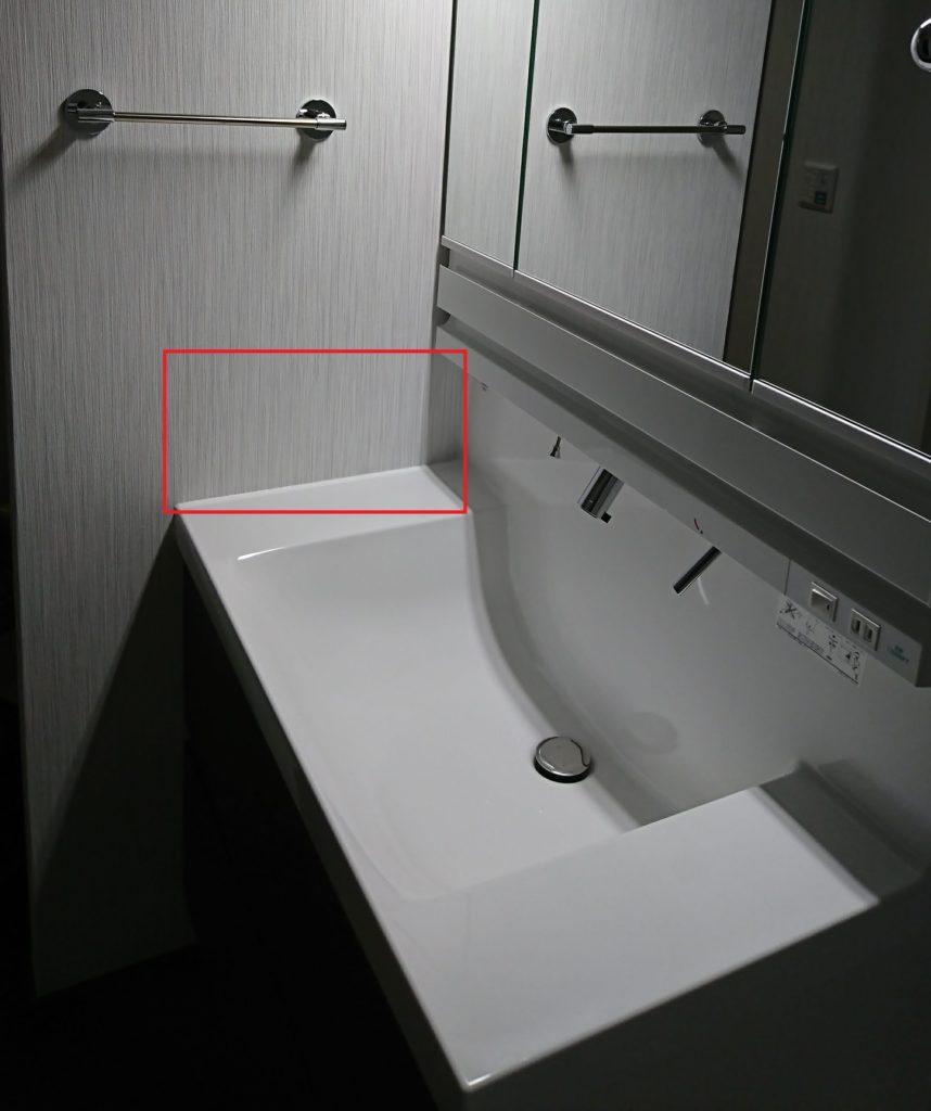 後悔ポイント6 洗面所の横の壁紙がカビたので対策した びびの注文