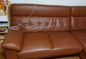 まだ綺麗だったときのソファーの写真