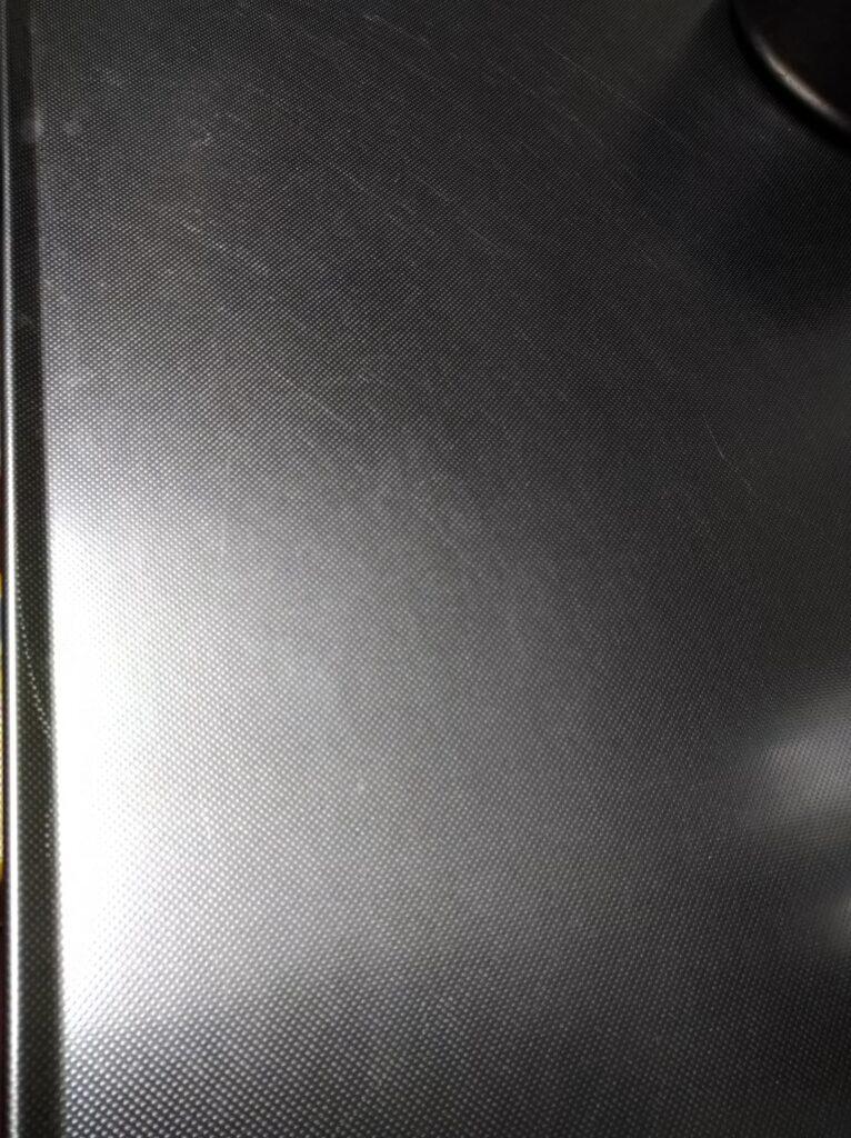 2年使用したクリナップキッチンの天板の傷