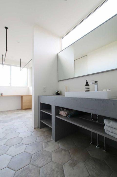 TOP画像は、o______noieさん邸 モルタルの造作洗面